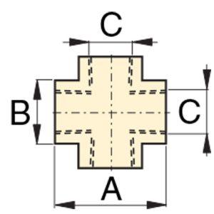 "Enerpac FZ1613 | High Pressure Cross Fitting, 3/8"" NPTF Female to 3/8"" NPTF Female | Magister"