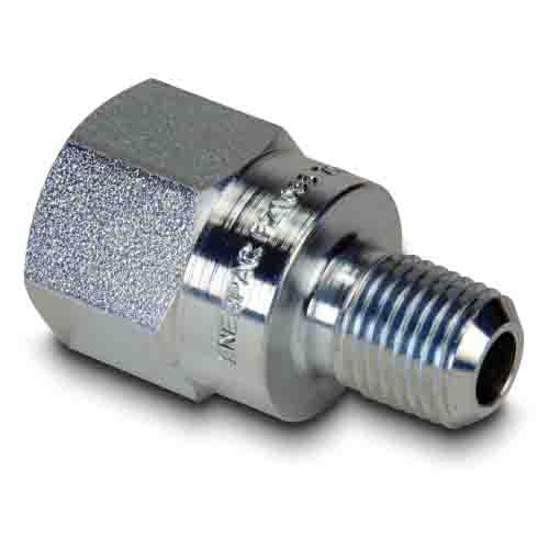 """Enerpac FZ1633   High Pressure Fitting Adapter, 1/2"""" NPTF Female to 1/4"""" NPTF Male   Magister"""