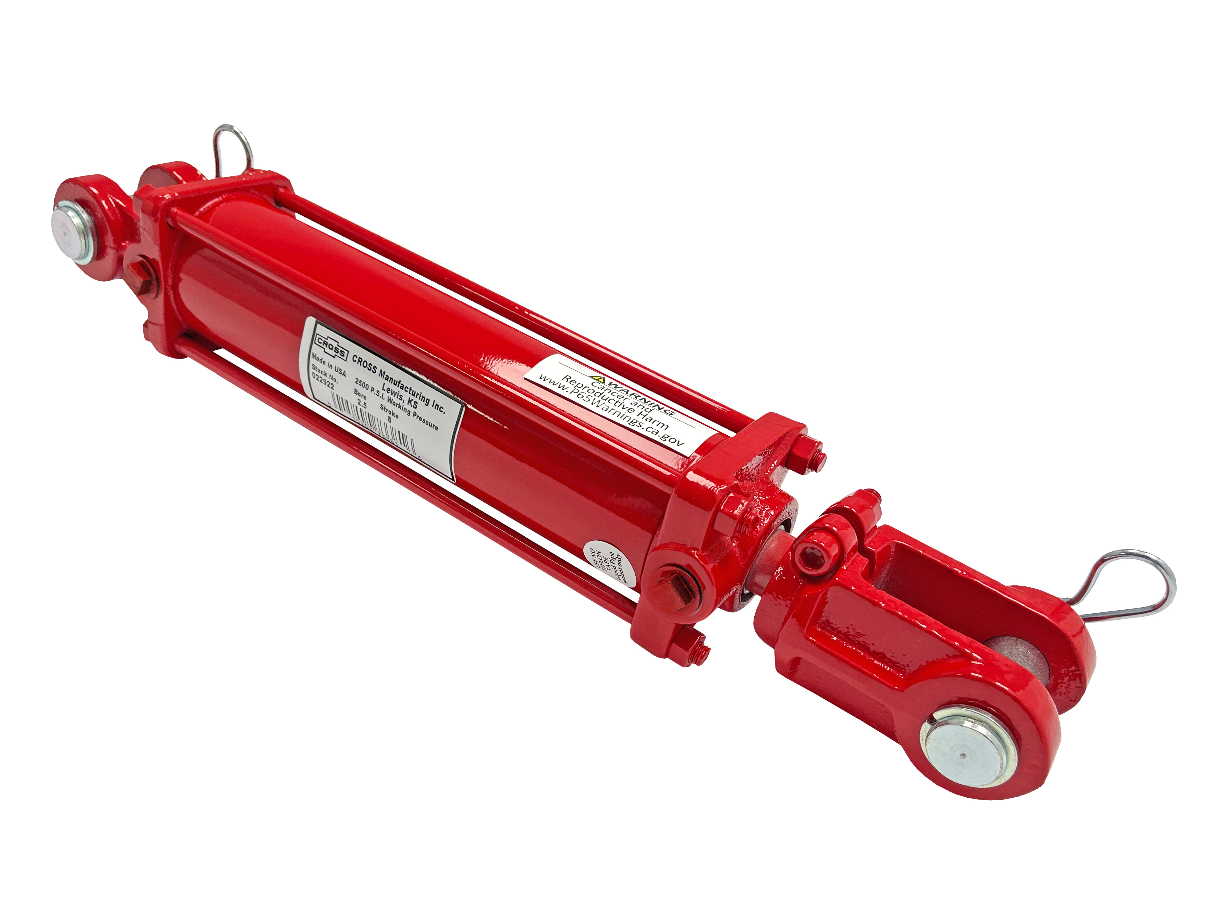 2.5 bore x 20 stroke CROSS hydraulic cylinder, tie rod double acting cylinder DB series   CROSS MANUFACTURING