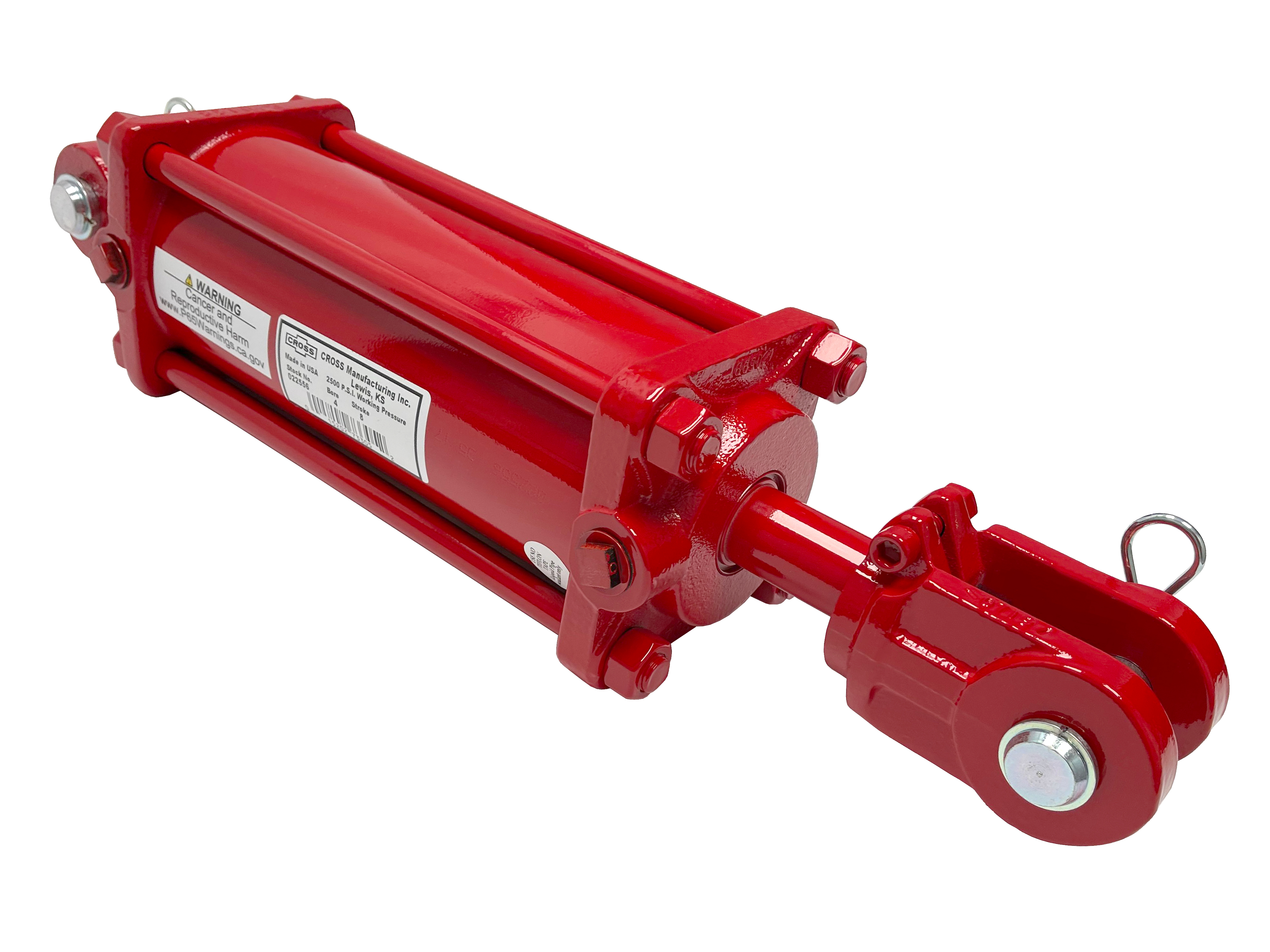 5 bore x 8 ASAE stroke CROSS hydraulic cylinder, tie rod double acting cylinder DB series | CROSS MANUFACTURING