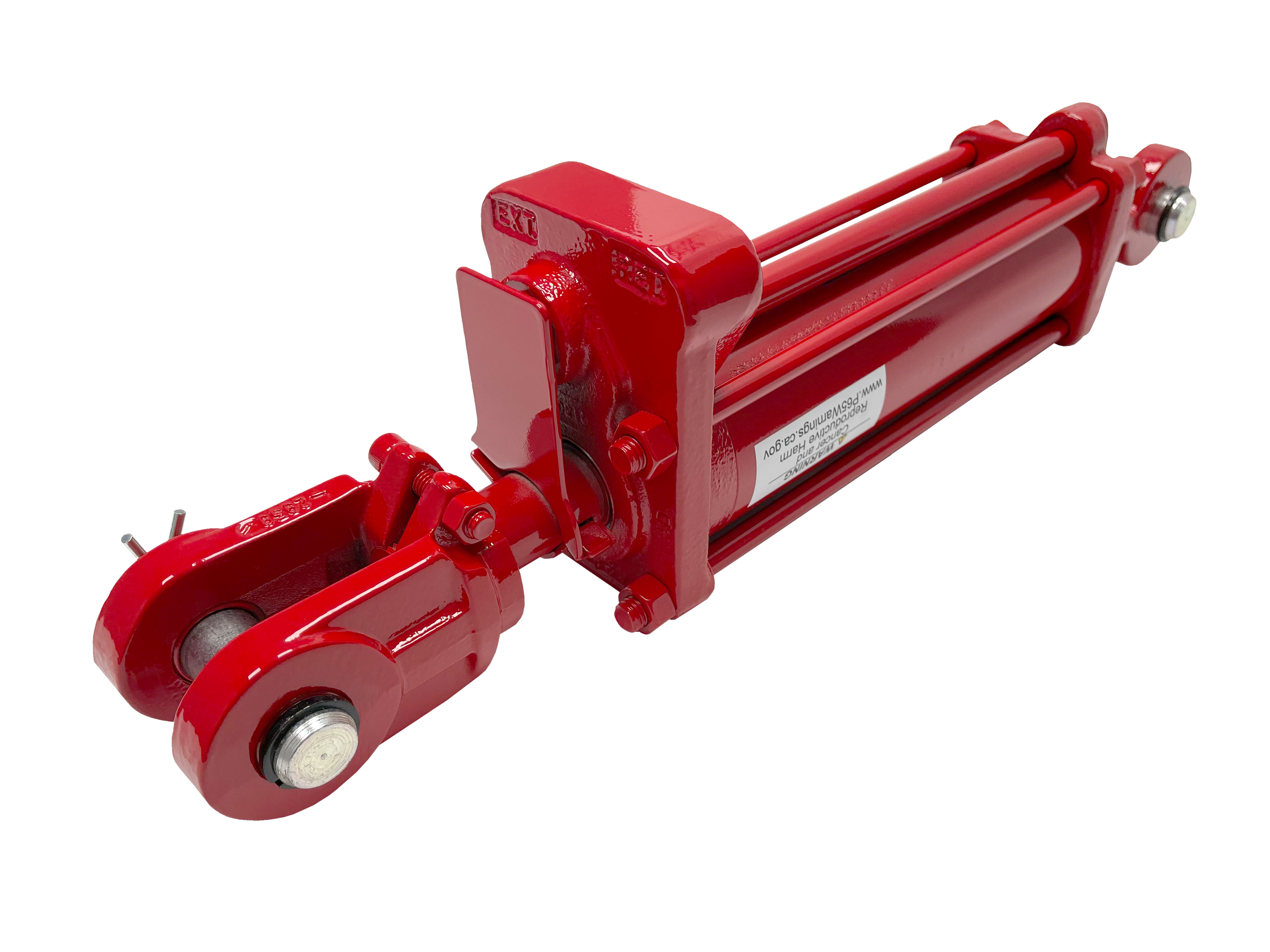 3 bore x 8 stroke CROSS hydraulic cylinder with depth control, tie rod double acting cylinder DC series   CROSS MANUFACTURING