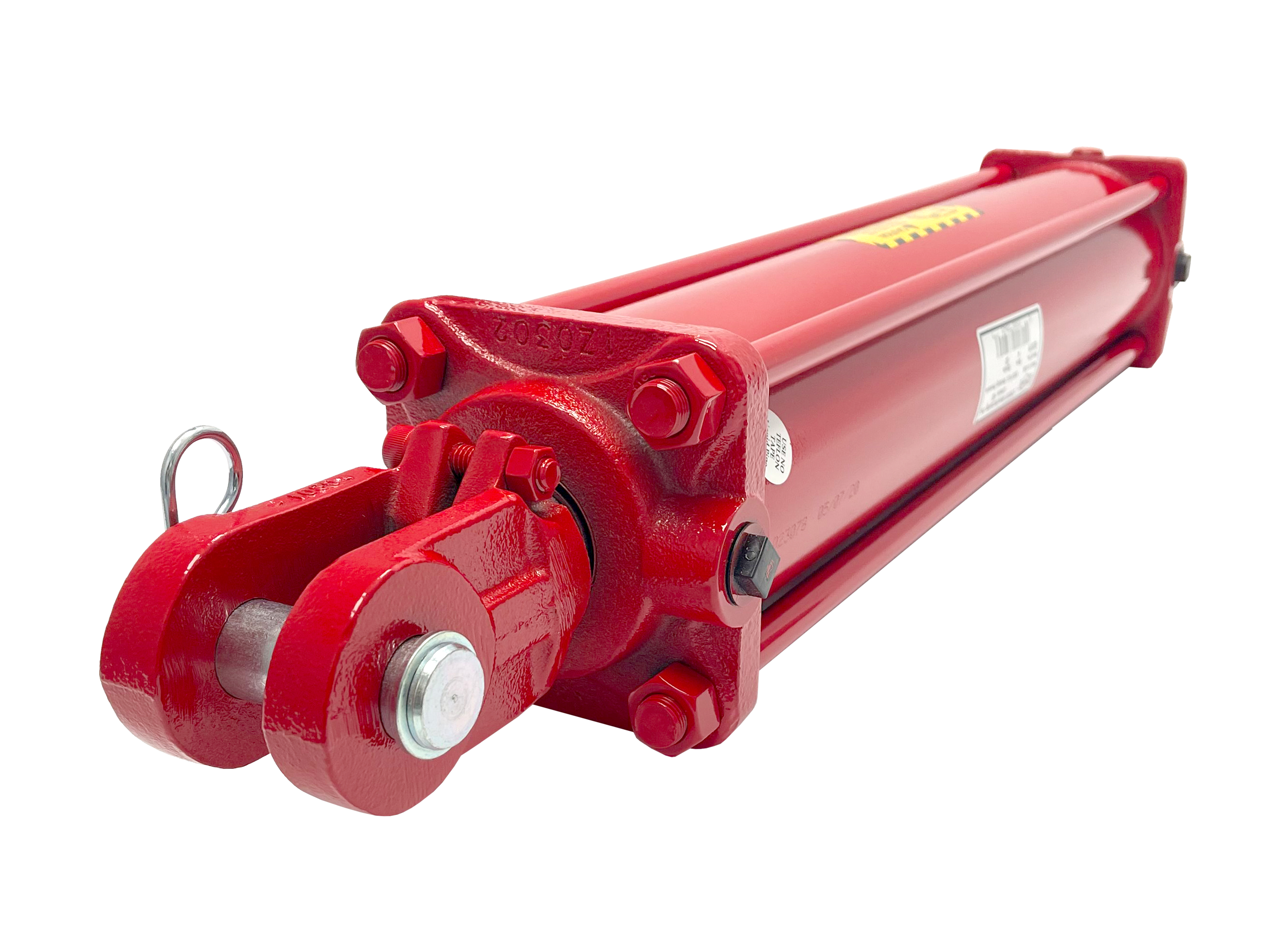 3.5 bore x 18 stroke CROSS hydraulic cylinder, tie rod double acting cylinder DH series   CROSS MANUFACTURING