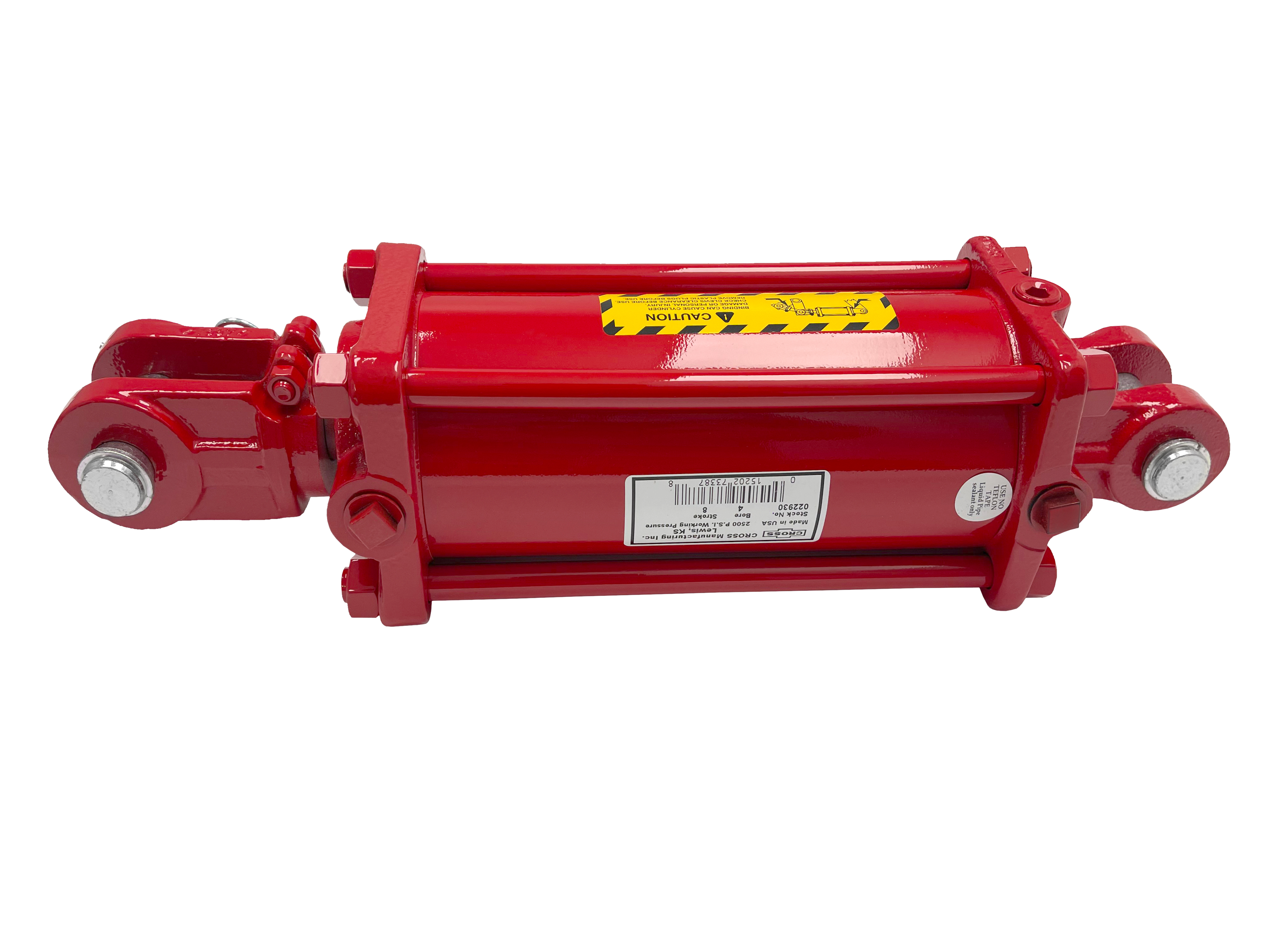 4 bore x 12 stroke CROSS hydraulic cylinder, tie rod double acting cylinder DH series | CROSS MANUFACTURING