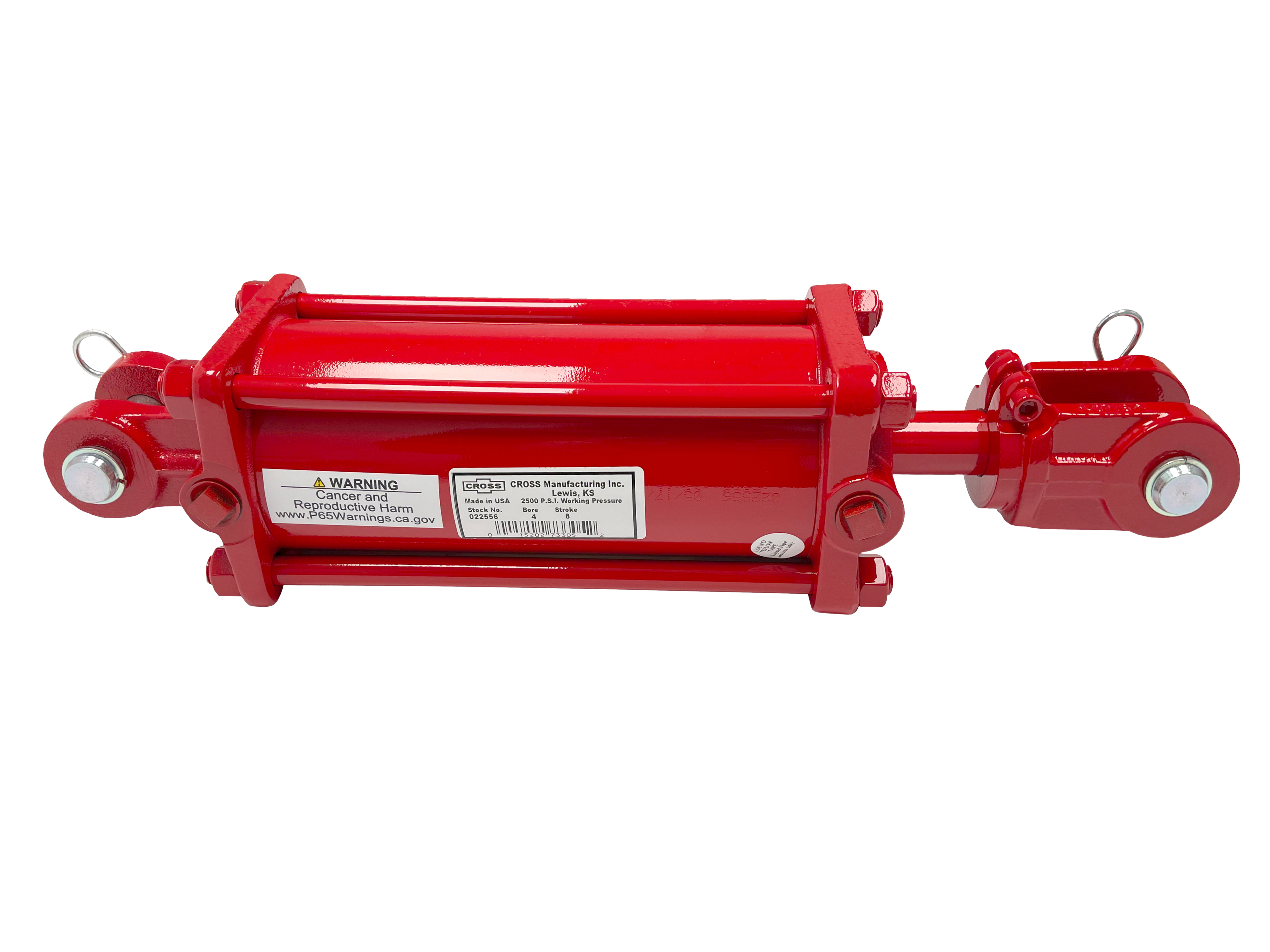 4 bore x 8 stroke CROSS rephasing hydraulic cylinder, tie rod double acting cylinder DR series | CROSS MANUFACTURING
