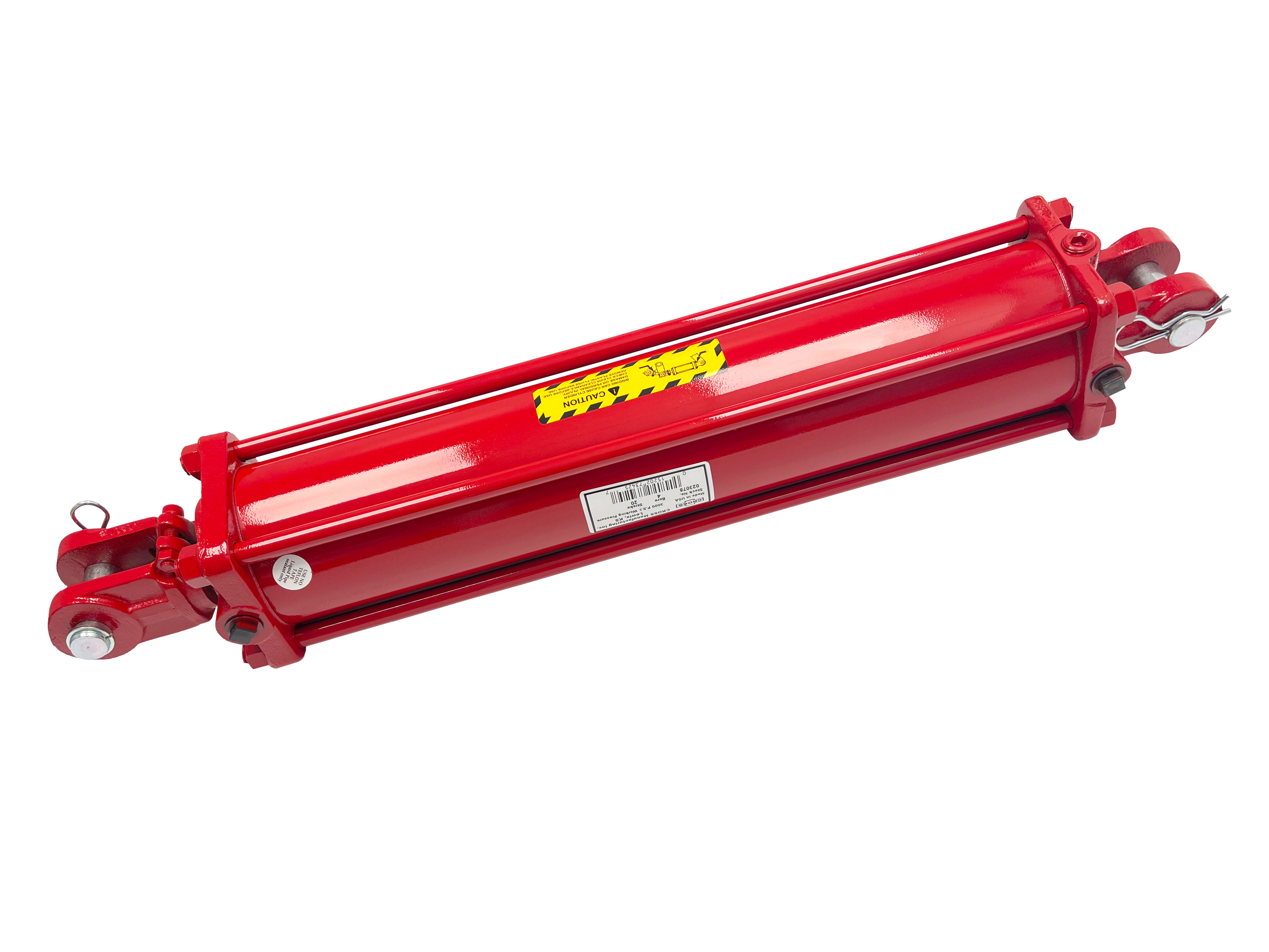 3.5 bore x 24 stroke CROSS hydraulic cylinder, tie rod double acting cylinder DH series   CROSS MANUFACTURING