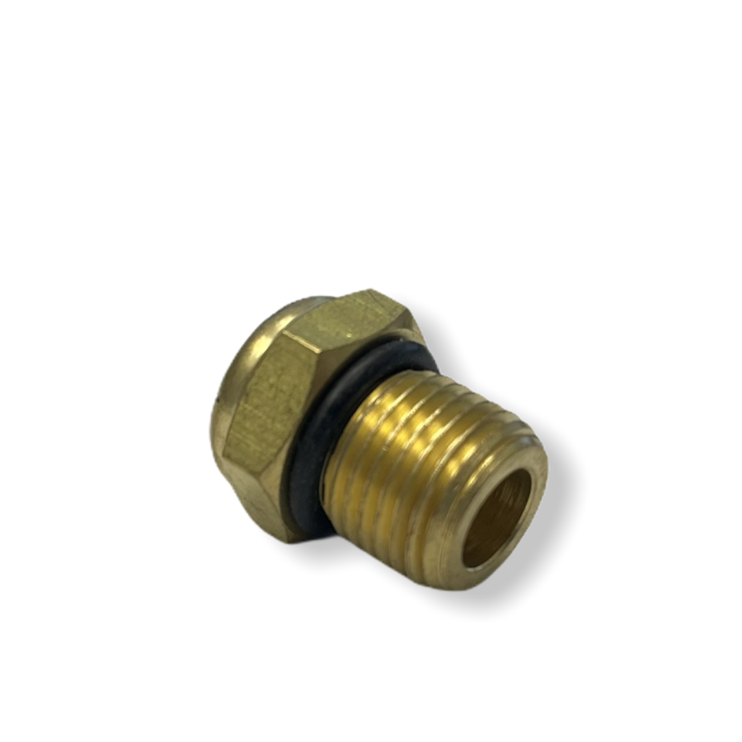 SAE 6 (9/16-18 UNF) air vent breather plug for hydraulic cylinders