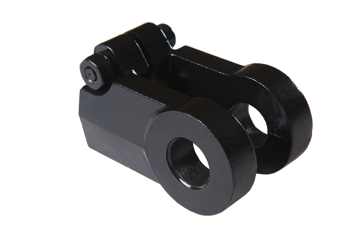 1 pin hole diameter ductile iron clevis 1.25-12 UNF threaded for hydraulic cylinders