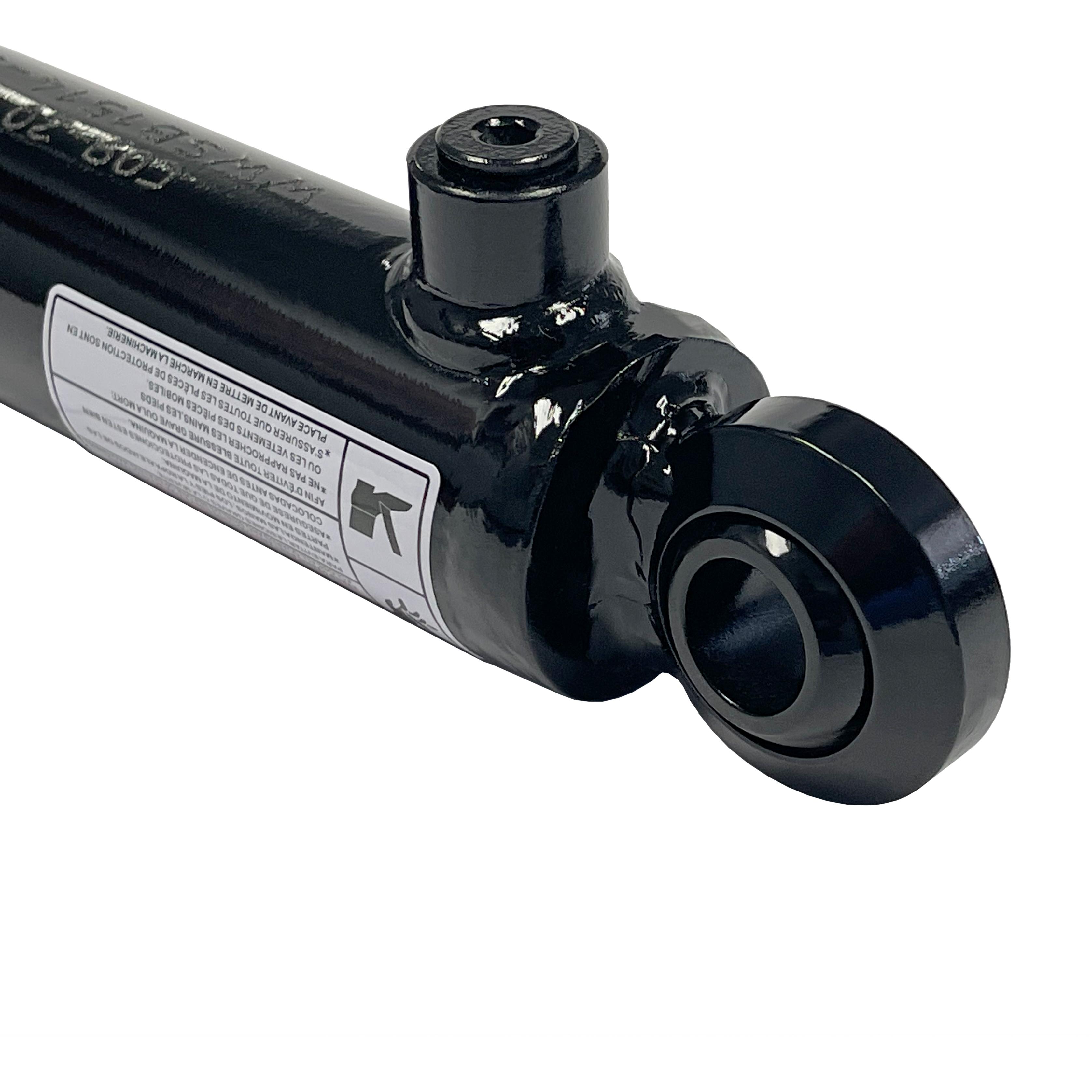 1.5 bore x 10 stroke swivel eye hydraulic cylinder, welded swivel eye double acting cylinder | Prince Hydraulics