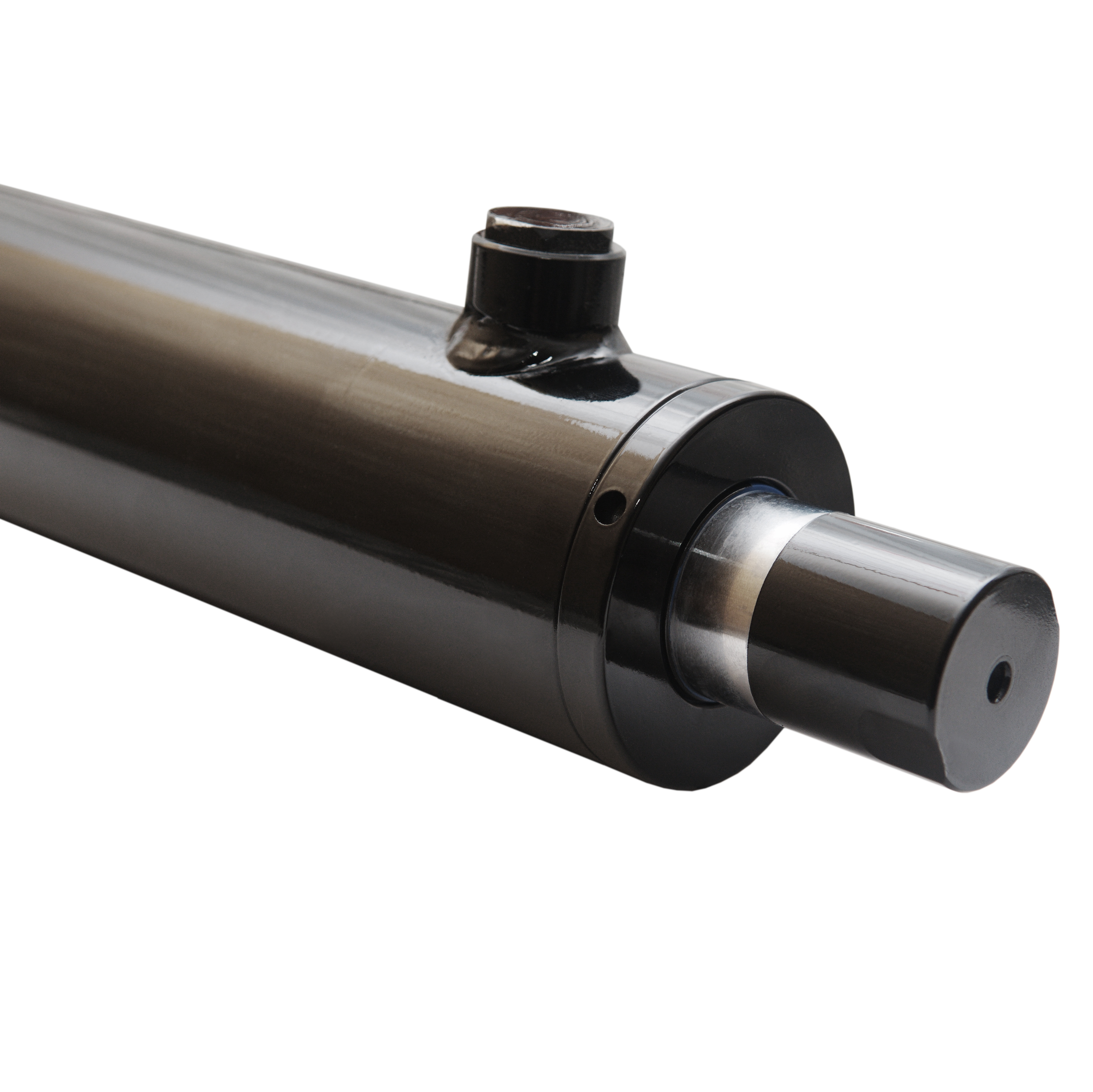 2.5 bore x 21 stroke hydraulic cylinder, welded universal double acting cylinder | Magister Hydraulics