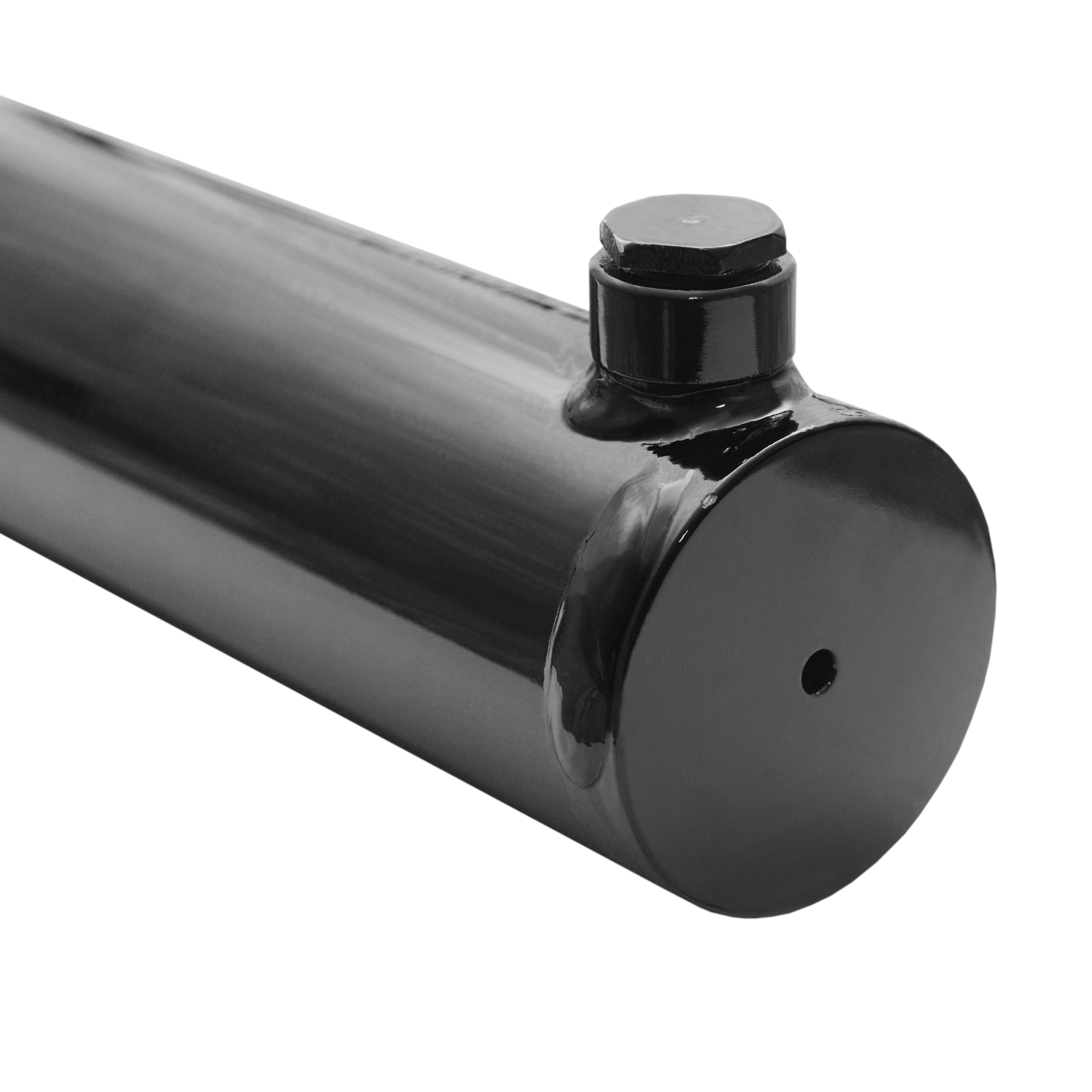 2 bore x 9 stroke hydraulic cylinder, welded universal double acting cylinder   Magister Hydraulics