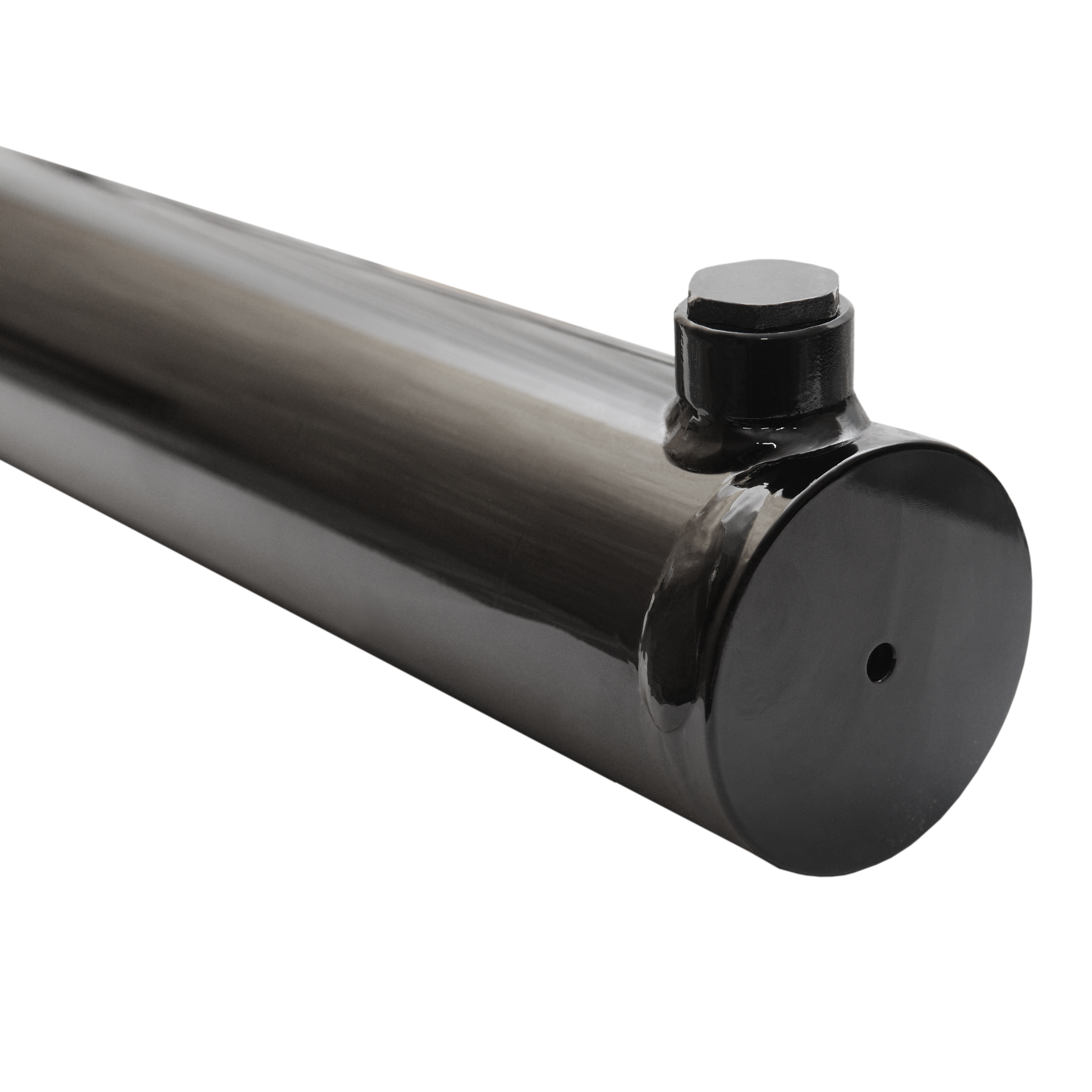 2.5 bore x 22 stroke hydraulic cylinder, welded universal double acting cylinder   Magister Hydraulics