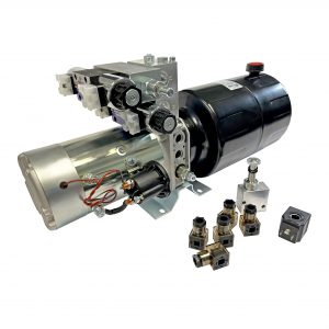 double acting 8 qts steel reservoir snow plow power unit 24V DC by Hydro-Pack